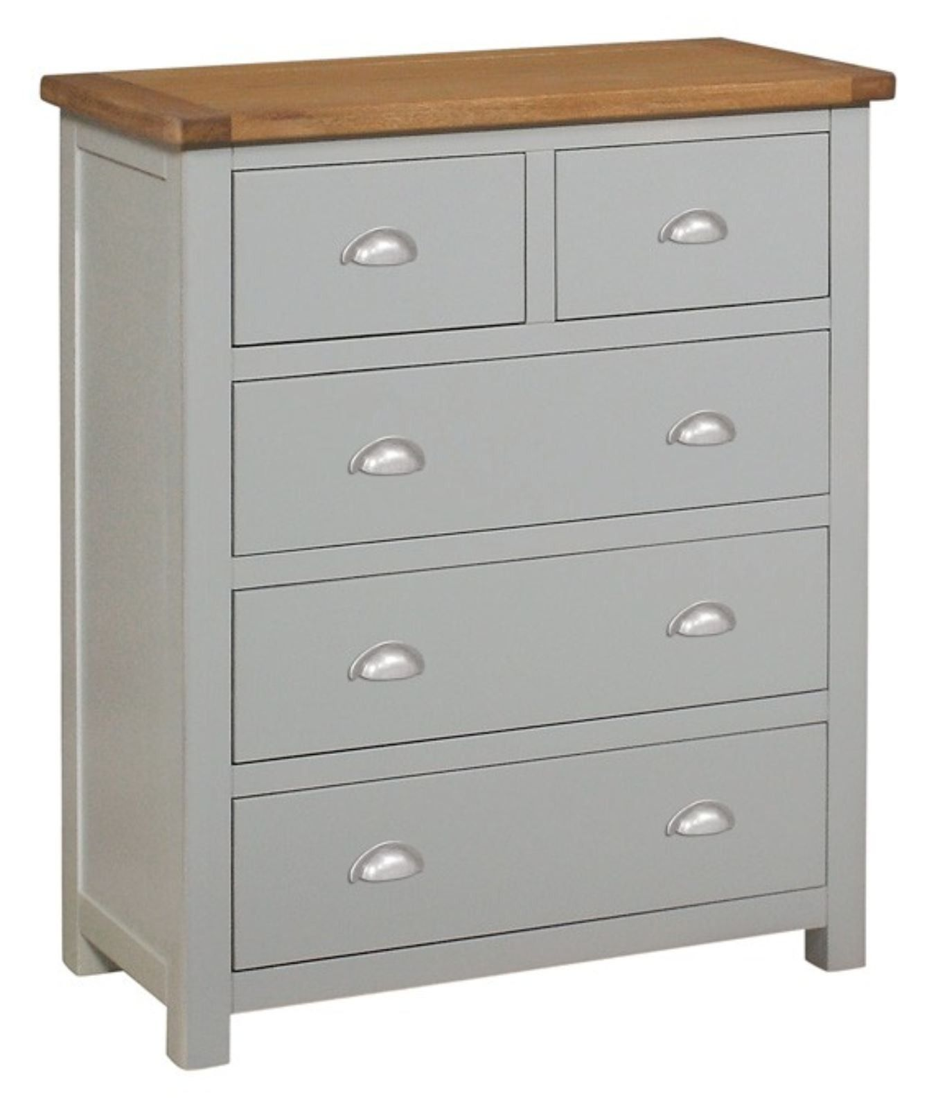 This Grey Painted 2 Over 3 Chest Of Drawers Is From Our Brand New Provence Bedroom Collection