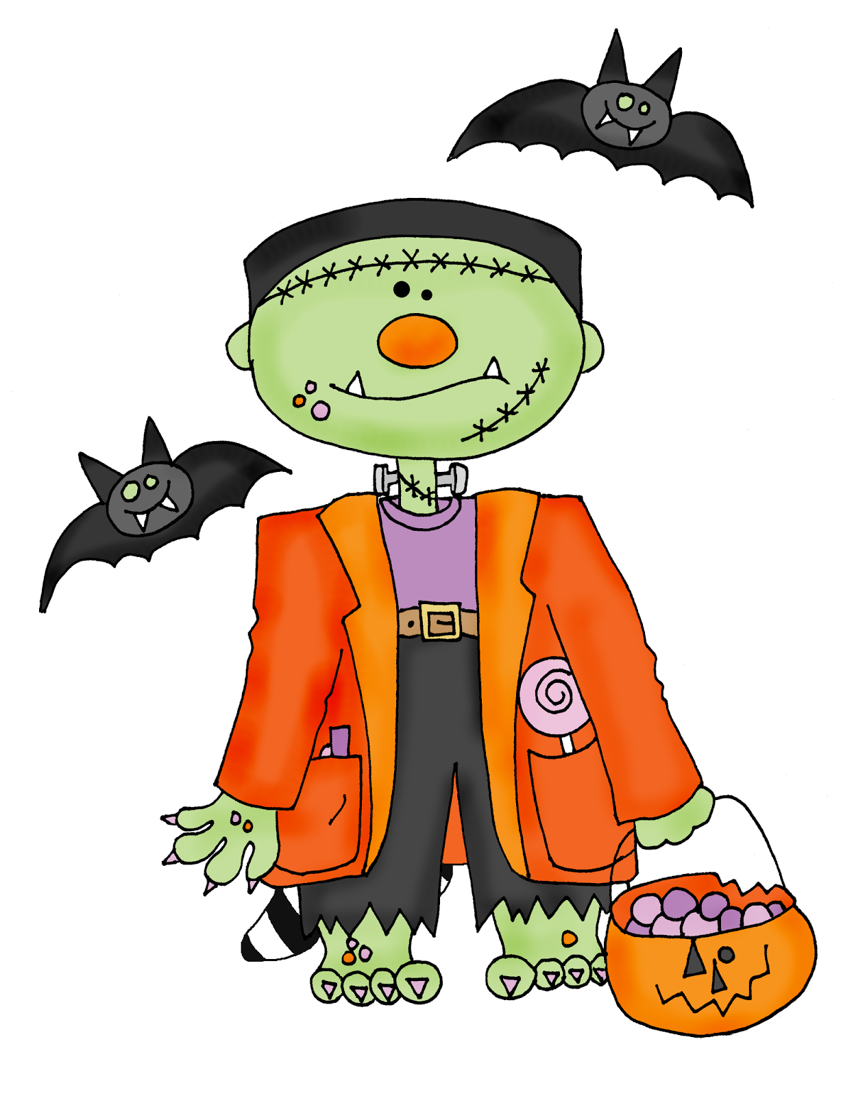 Free Dearie Dolls Digi Stamps Frankenstein Halloween