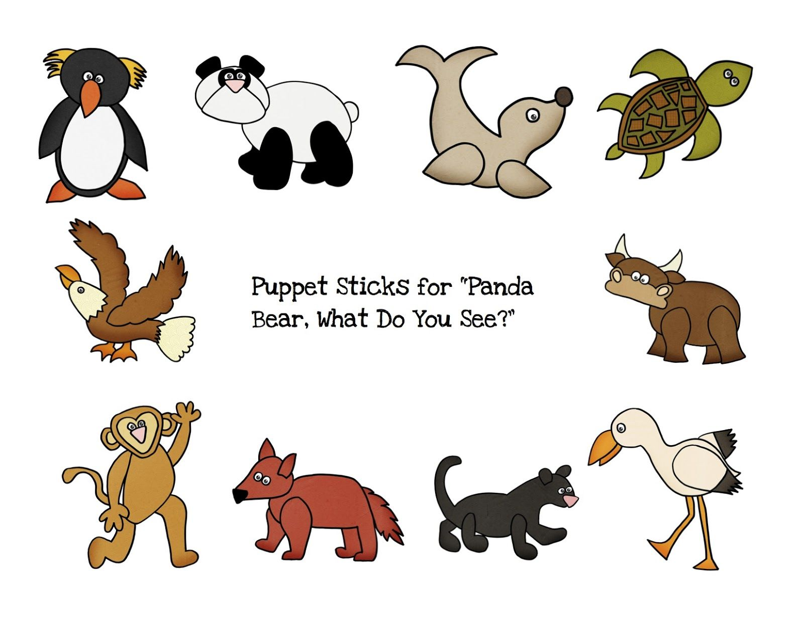 Preschool Printables: Panda Bear