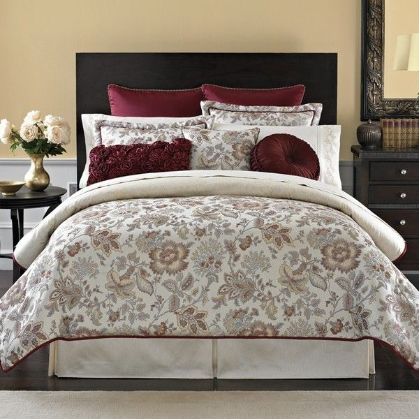 Burgundy, Blue, Ivory Bedspreads And Comforters | Croscill Romance Bedding