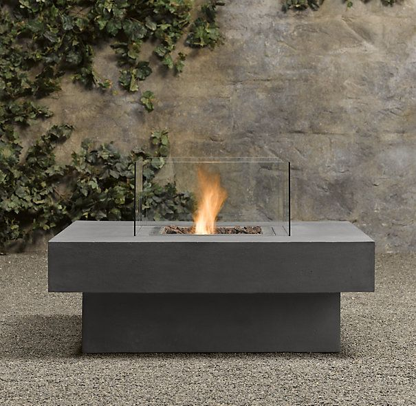 Shown in weathered slate laguna concrete ventless fire for Concreteworks fire table