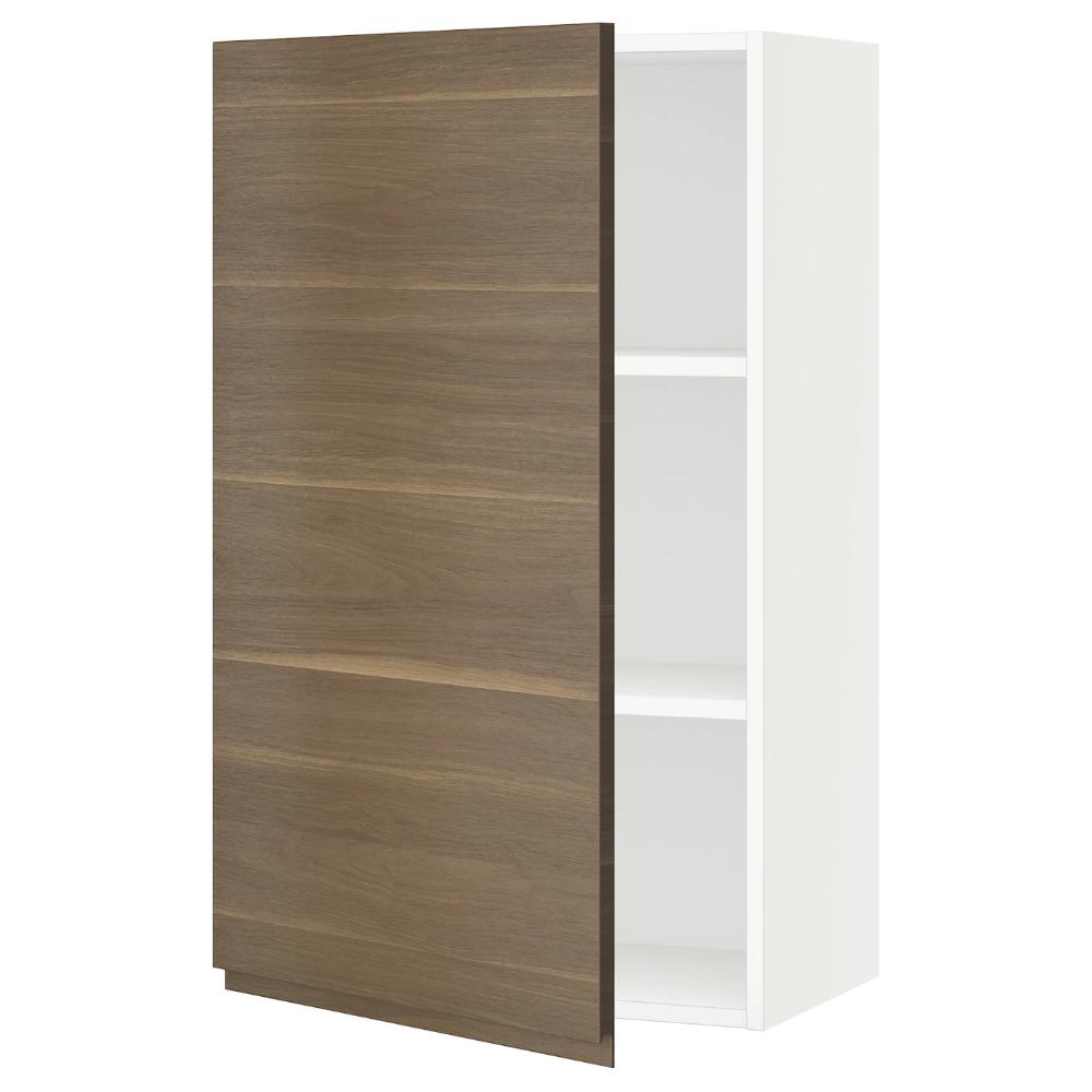 Sektion Wall Cabinet White Voxtorp Walnut Effect 24x15x40 Ikea In 2020 Wall Cabinet Ikea Open Storage