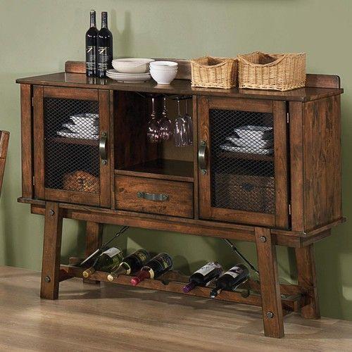 Coaster Lawson Dining Server W Wine Rack