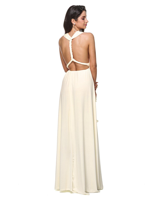90721185d002d Maternity Outfits - skinny maternity dresses : GAMISS Womens Fashion  Evening Dress Multi Way Wrap Convertible Halter Maxi Long DressPlus  SizeWhiteXL >>> ...