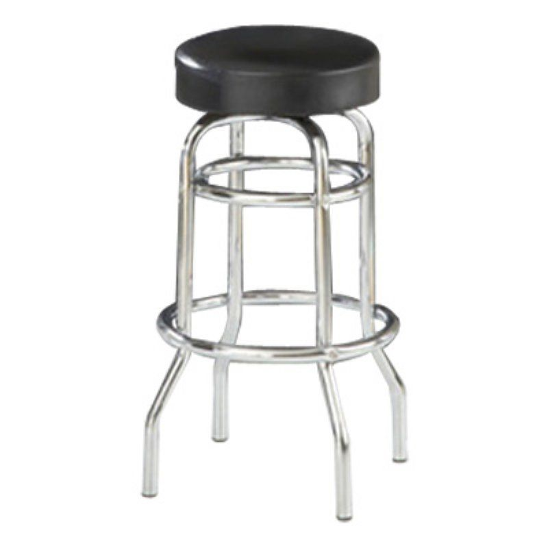 Super Crystal Black Vinyl Backless Swivel Bar Stool 6061 Squirreltailoven Fun Painted Chair Ideas Images Squirreltailovenorg