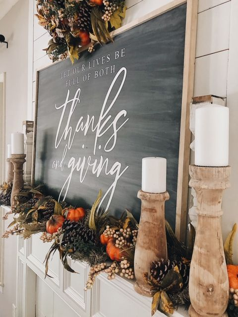 How To Decorate Your Mantel For Fall In 3 Easy Steps — She Gave It A Go