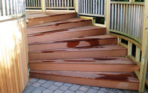 Best Curved Deck Stairs Clay Pinterest 400 x 300