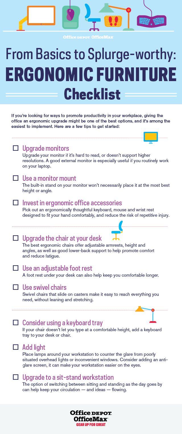 Ergonomic Furniture Checklist Small Business Worklife