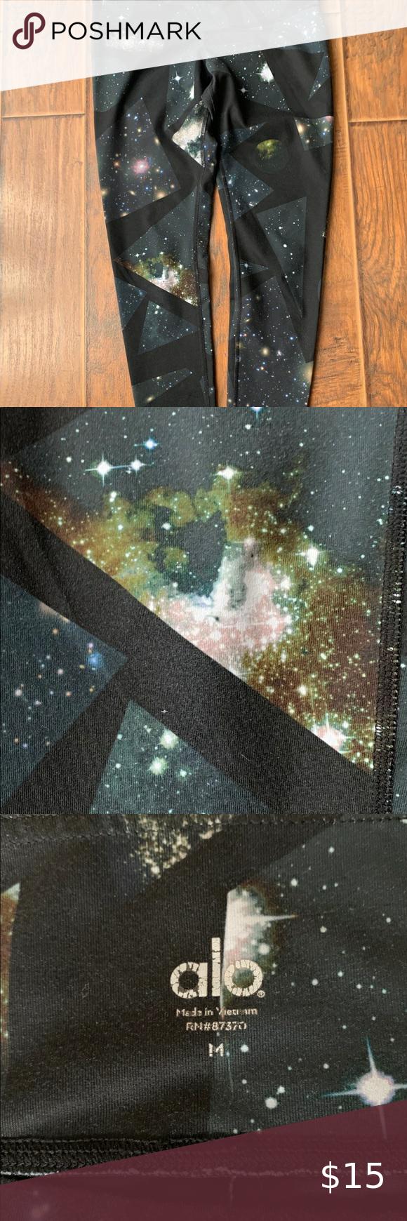 Alo Goddess Ribbed Galaxy Leggings | Galaxy leggings
