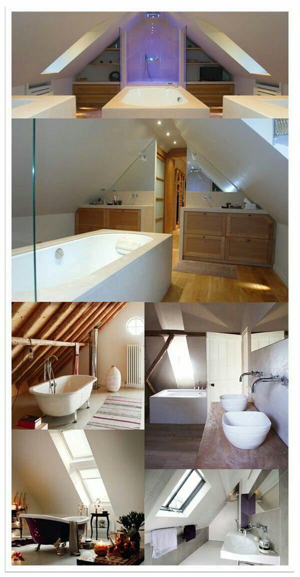 Aménagement salle de bain sous pente House ideas Pinterest