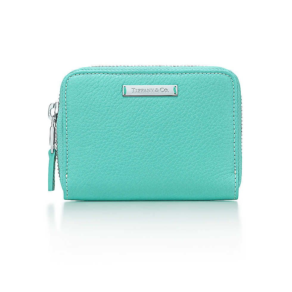 Zip card case in tiffany blue grain leather more colors available zip card case in tiffany blue grain leather more colors available tiffany colourmoves Images