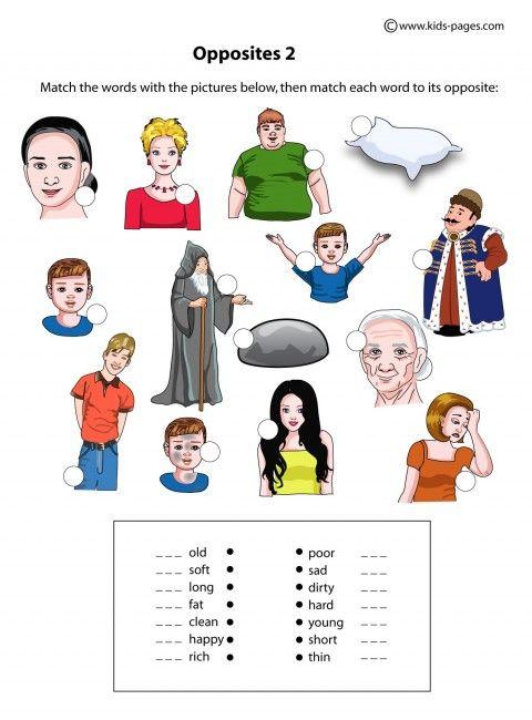 Opposites Worksheet Printable Packet Opposites Worksheet Printable Packet Educational Printables