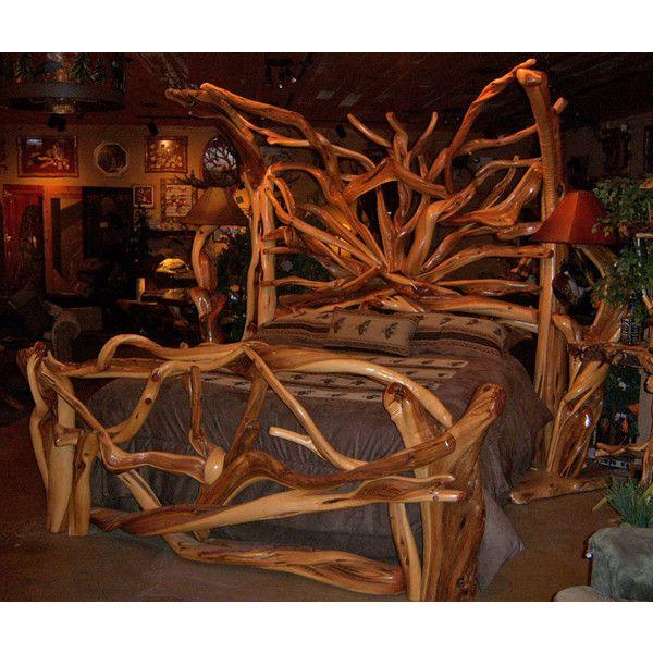 Rustic Bedroom Furniture, Log Bed, Mission Beds, Burl Wood Furnishings, Log  Cabin