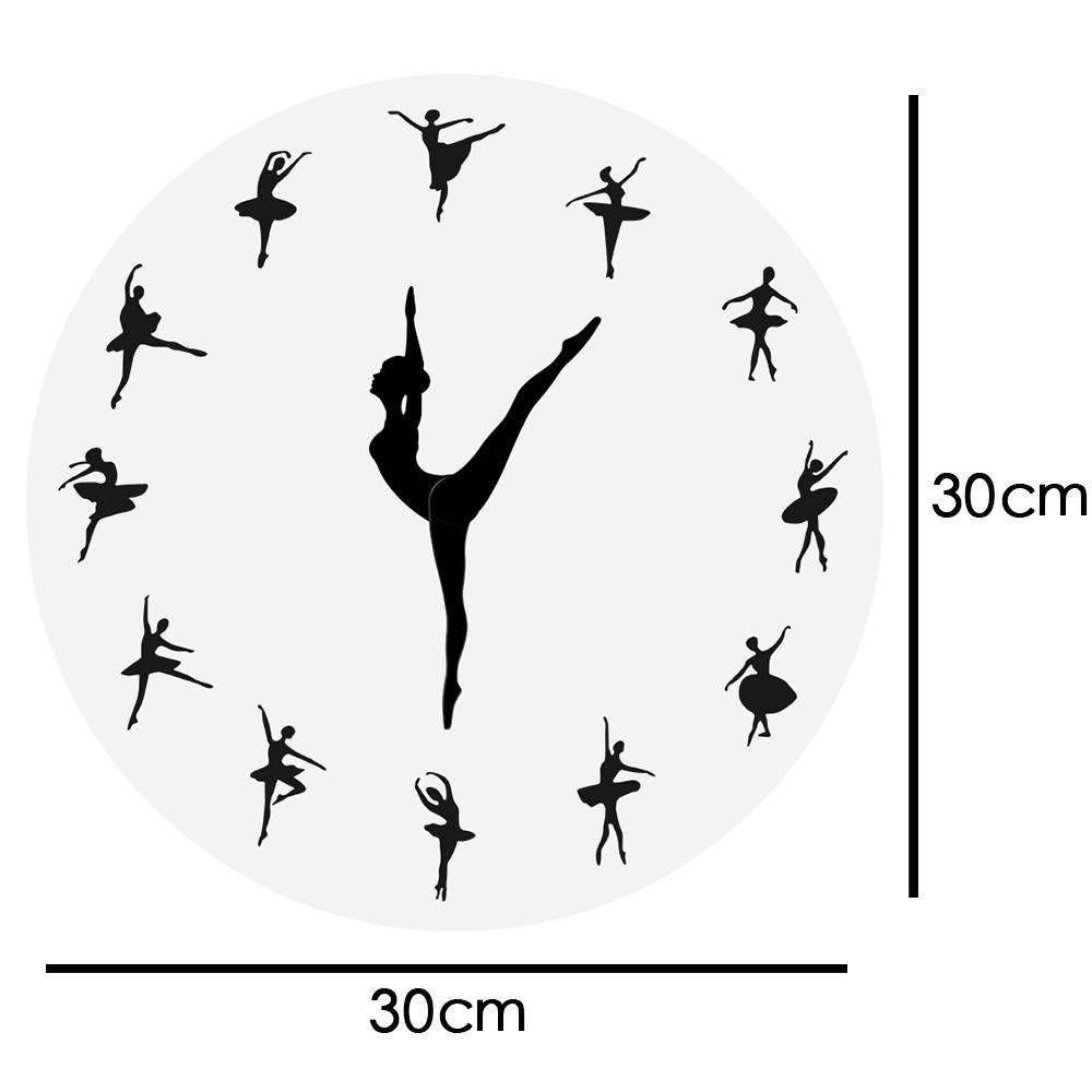 Ballerina Dancing Wall Clock Wall Clock Night Wall Clock Wall Clock Modern