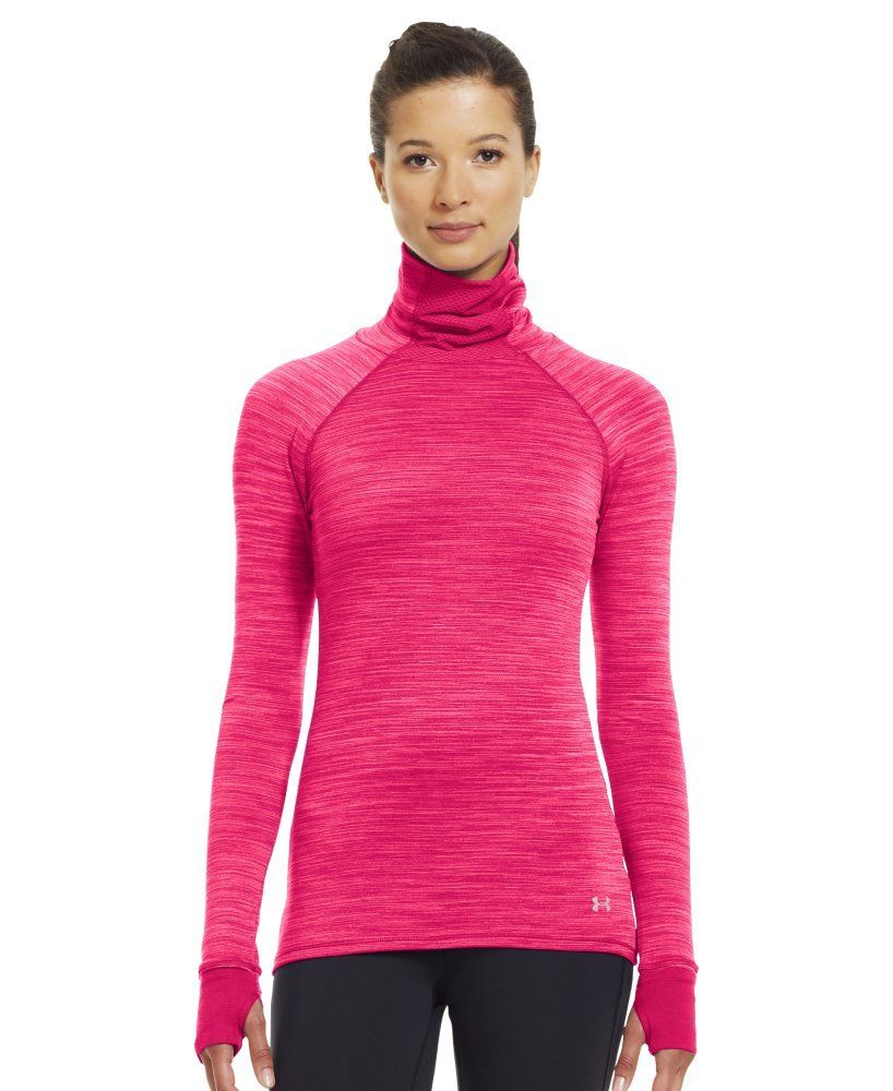 Amazon.com: Under Armour Women's Printed UA Fly-By Turtleneck: Sports & Outdoors