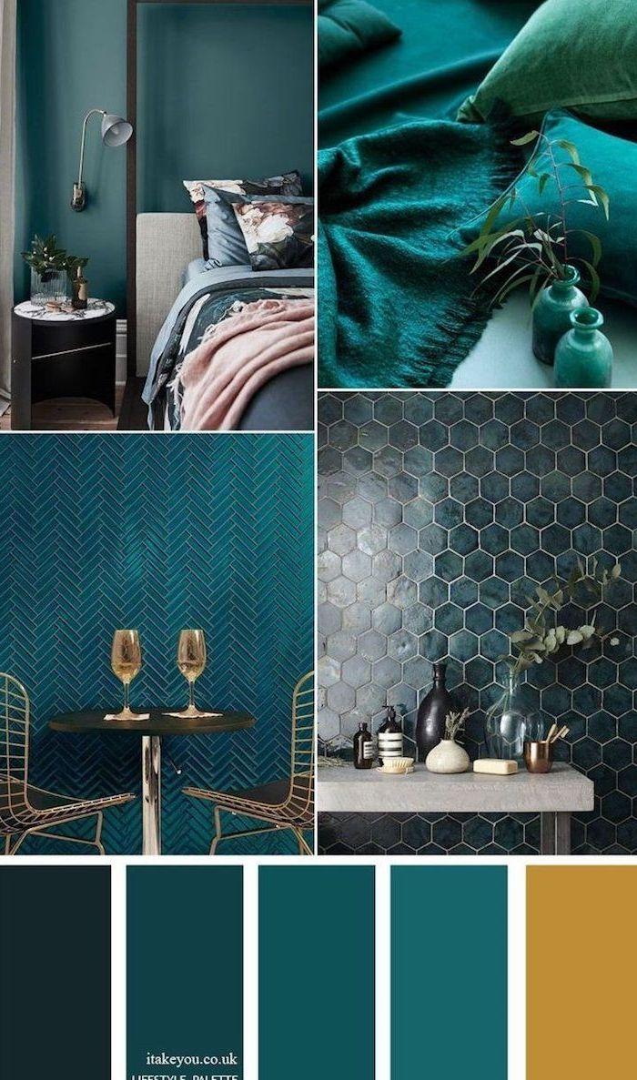 ▷ 1001+ wunderschöne Ideen für Wandfarbe Petrol