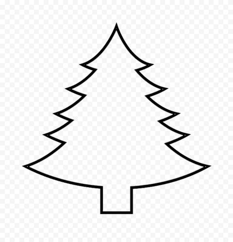Hd Simple Black Outline Christmas Tree Palm Png Christmas Tree Simple Christmas