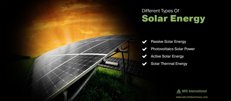 Different types of Solar Energy Passive Solar Energy Active Solar ...