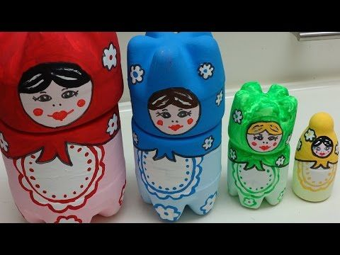 Recycled Water Bottle Crafts: Russian Matryoshka
