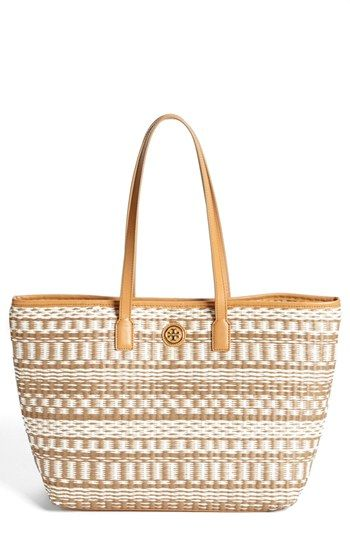 a737cc56e967 Tory Burch 'Stripe - Small' Straw Tote available at #Nordstrom ...