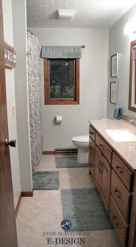Bathroom Paint Colors With Oak Cabinets Backsplash Ideas ...