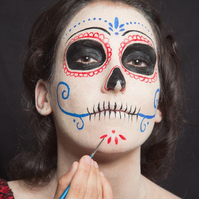 diy d a de los muertos make up women kanevall helloween. Black Bedroom Furniture Sets. Home Design Ideas