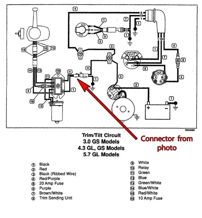 wiring diagram johnson power trim unit