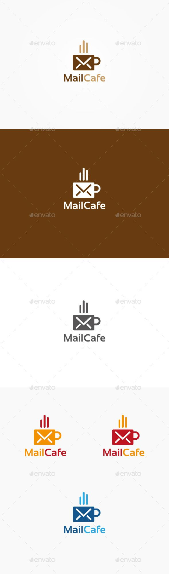 Mail Cafe Logo | Cafe logo, Logos, Logo design template