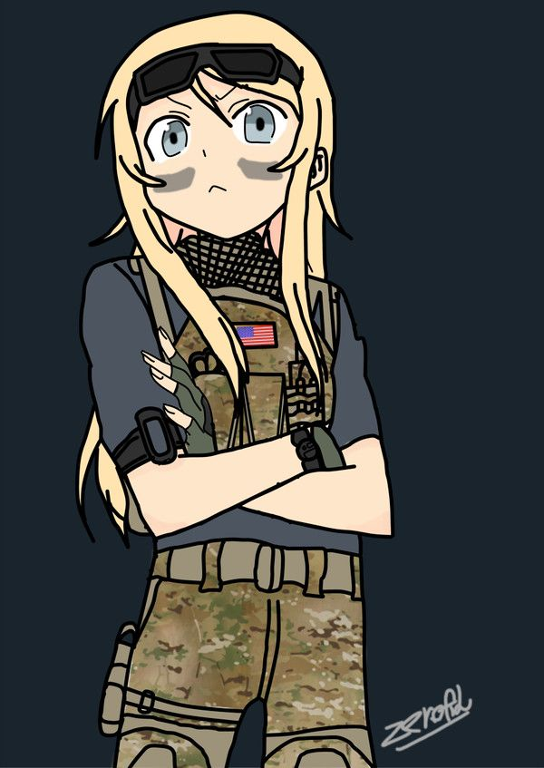 Navy S Seal Operative Valkyire Rainbow Six Siege Anime