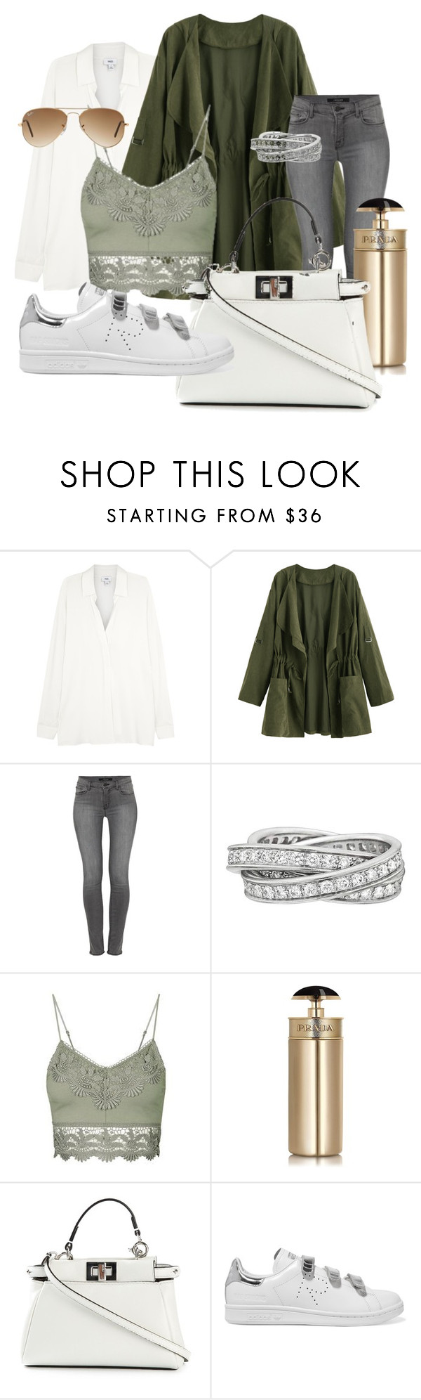 """Fall X"" by beatricechan on Polyvore featuring Vince, J Brand, Cartier, Topshop, Prada, Fendi, adidas Originals and Ray-Ban"