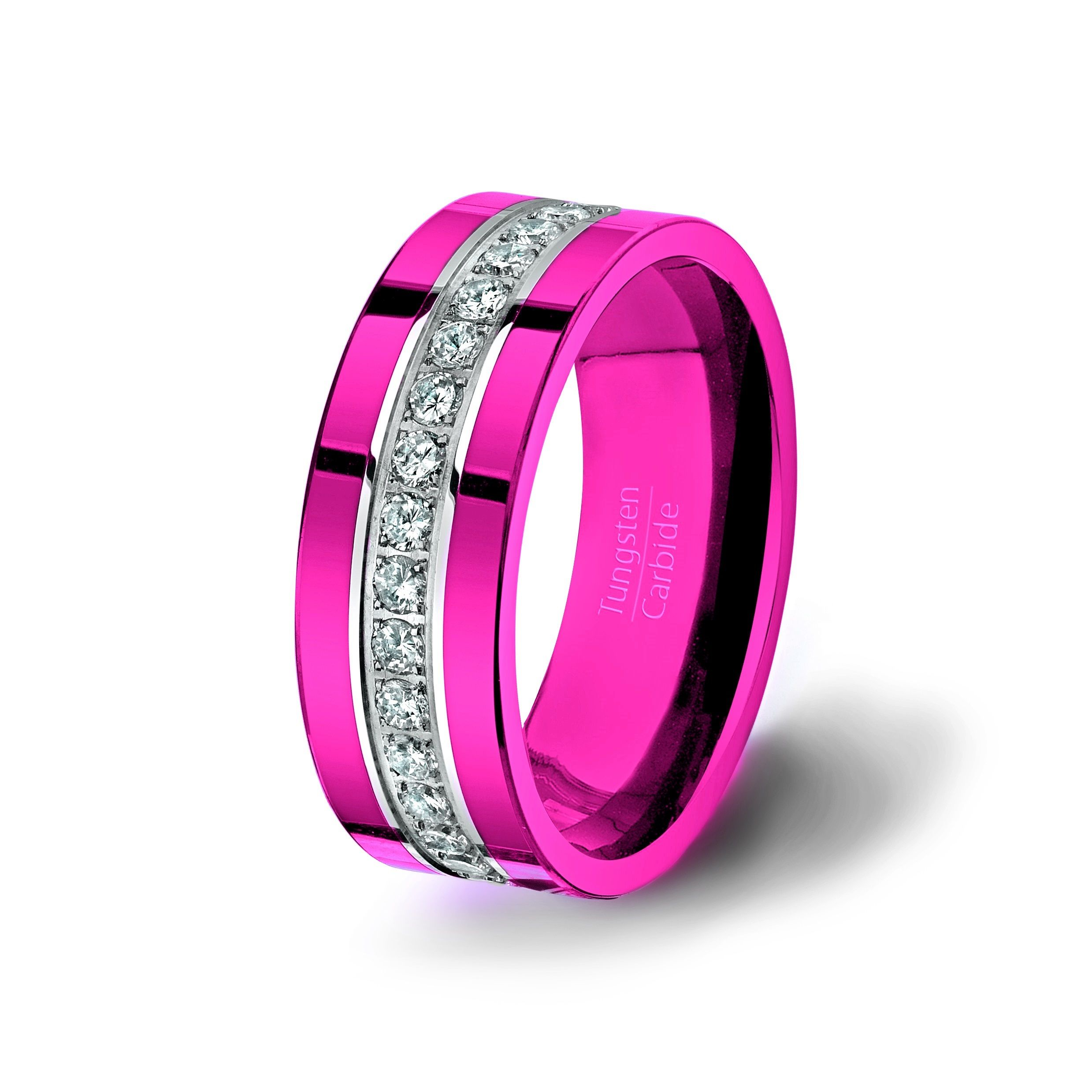 Tungsten Carbide Ring Stacked Fully With Brilliant AAA Cubic ...