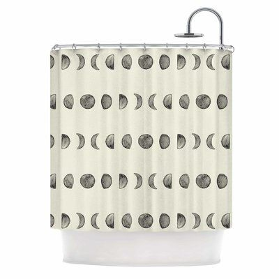 East Urban Home Phases Of The Moon Single Shower Curtain Gray Shower Curtains Lace Shower Curtains Curtains