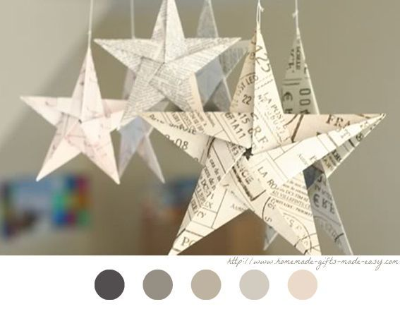 Origami Toile Star Diy F Te De No L Ornement Tuto Tutoriel Christmas Decoration