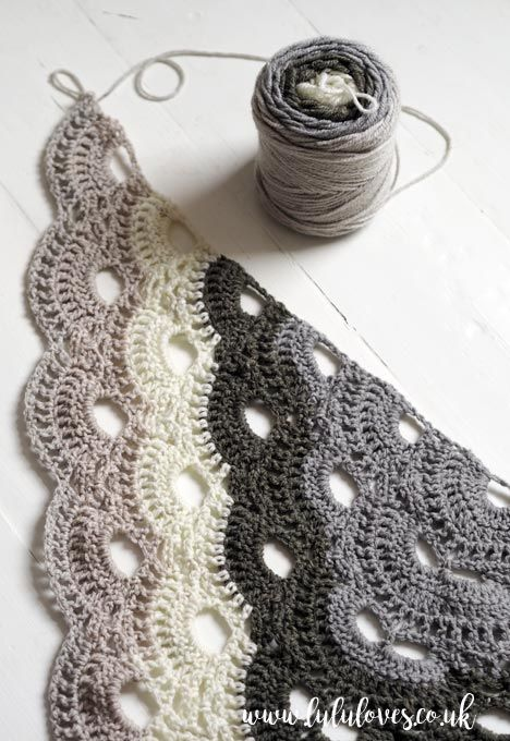 Lululoves Crochet Virus Shawl #shawlcrochetpattern