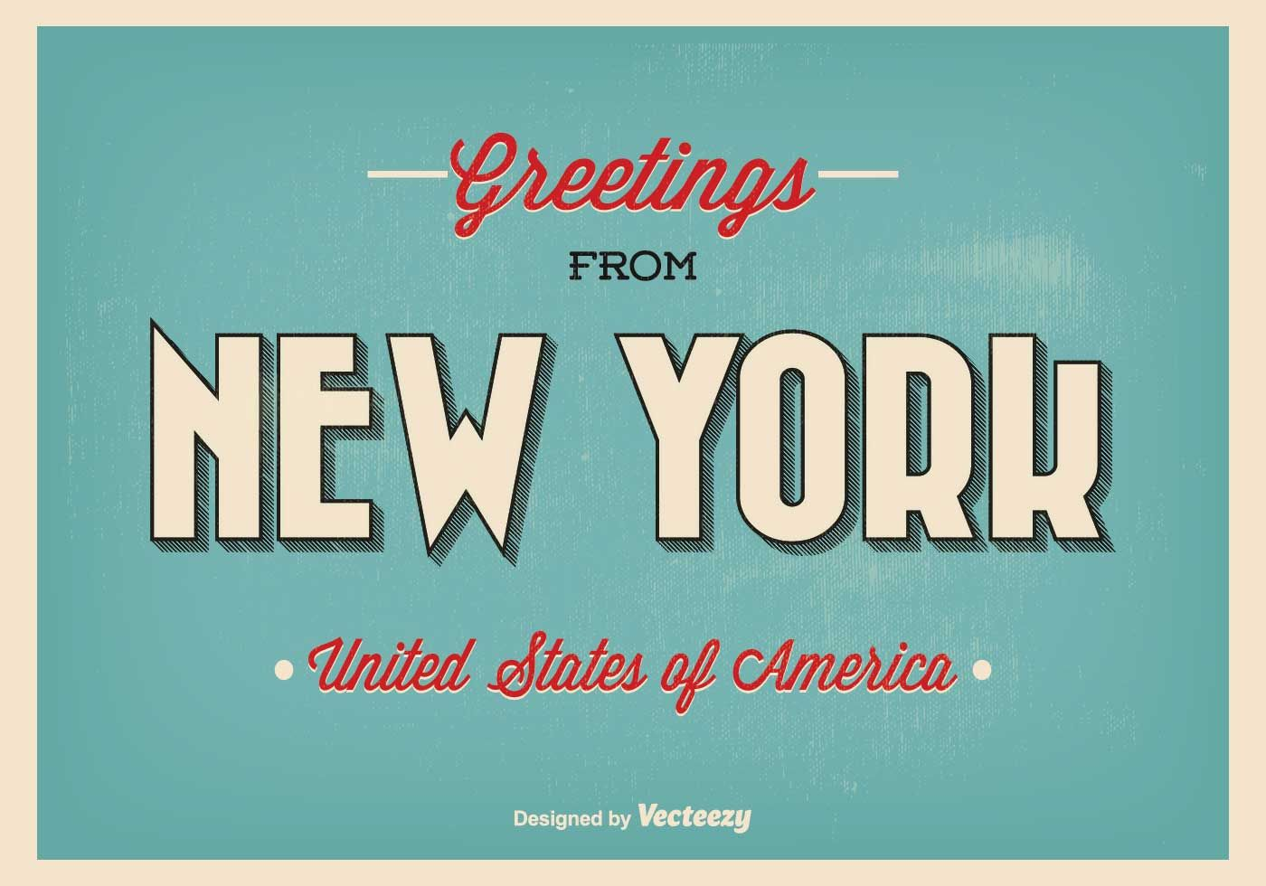New York Greeting Illustration Tipografia Pinterest City