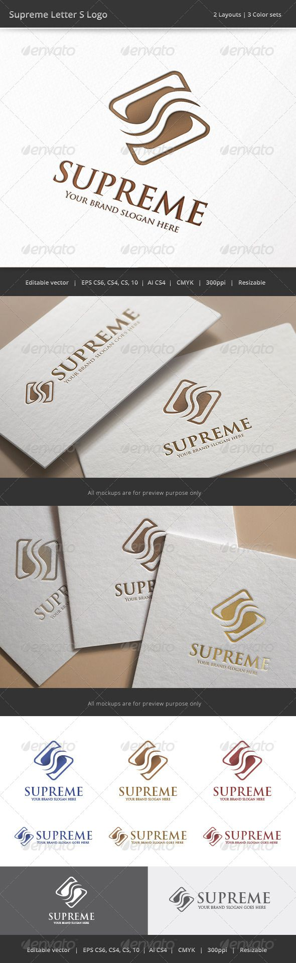 Supreme Letter S Logo — Vector EPS finance consult