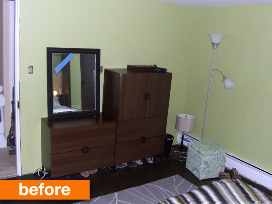 Before U0026 After: A Creative Solution For A No Closet Bedroom