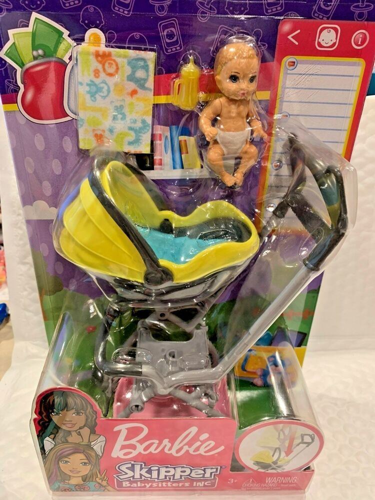 BARBIE SKIPPER BABYSITTERS INC BABY WITH CARRIER