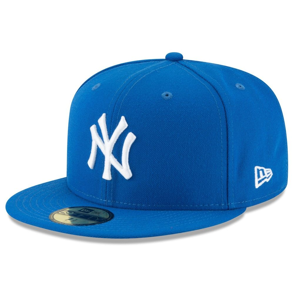 Men S New Era Blue New York Yankees Fashion Color Basic 59fifty Fitted Hat In 2021 Fitted Hats Hats For Men New Era