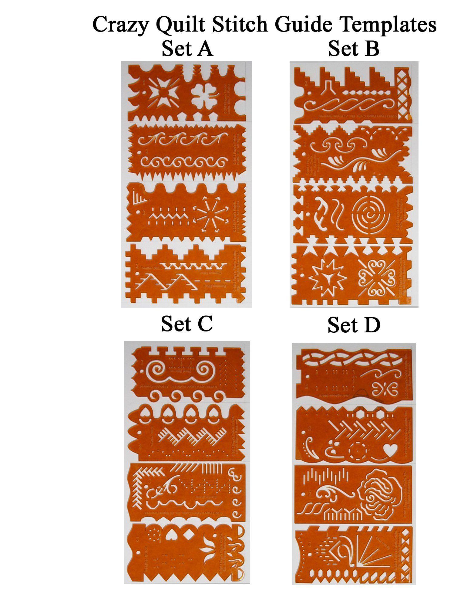 Fayes fabric crafts etc crazy quilt stitch guide templates hussif fayes fabric crafts etc crazy quilt stitch guide templates maxwellsz