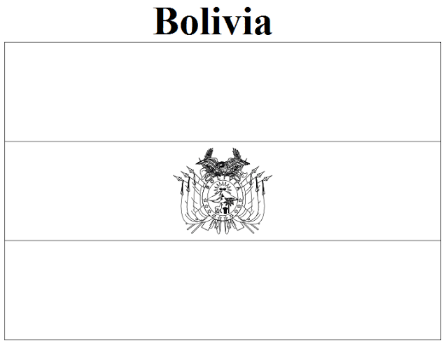 Bolivia Flag Coloring Pages Bolivia Flag Flag Coloring Pages Coloring Pages