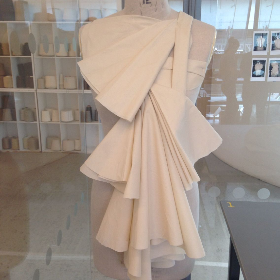 Angular Pleating And Layering Draping On Mannequin