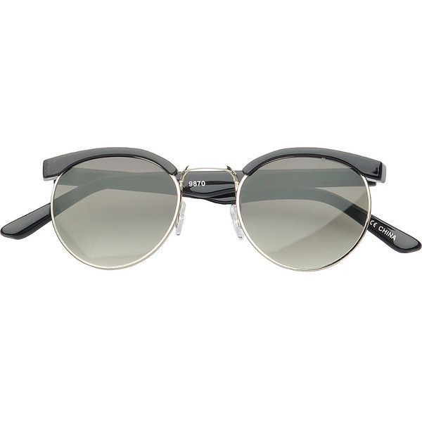 6da40b4f57 SW Global Eyewear Dakota Soho Fashion Sunglasses - BlackSilver -... ( 20) ❤  liked on Polyvore featuring bags