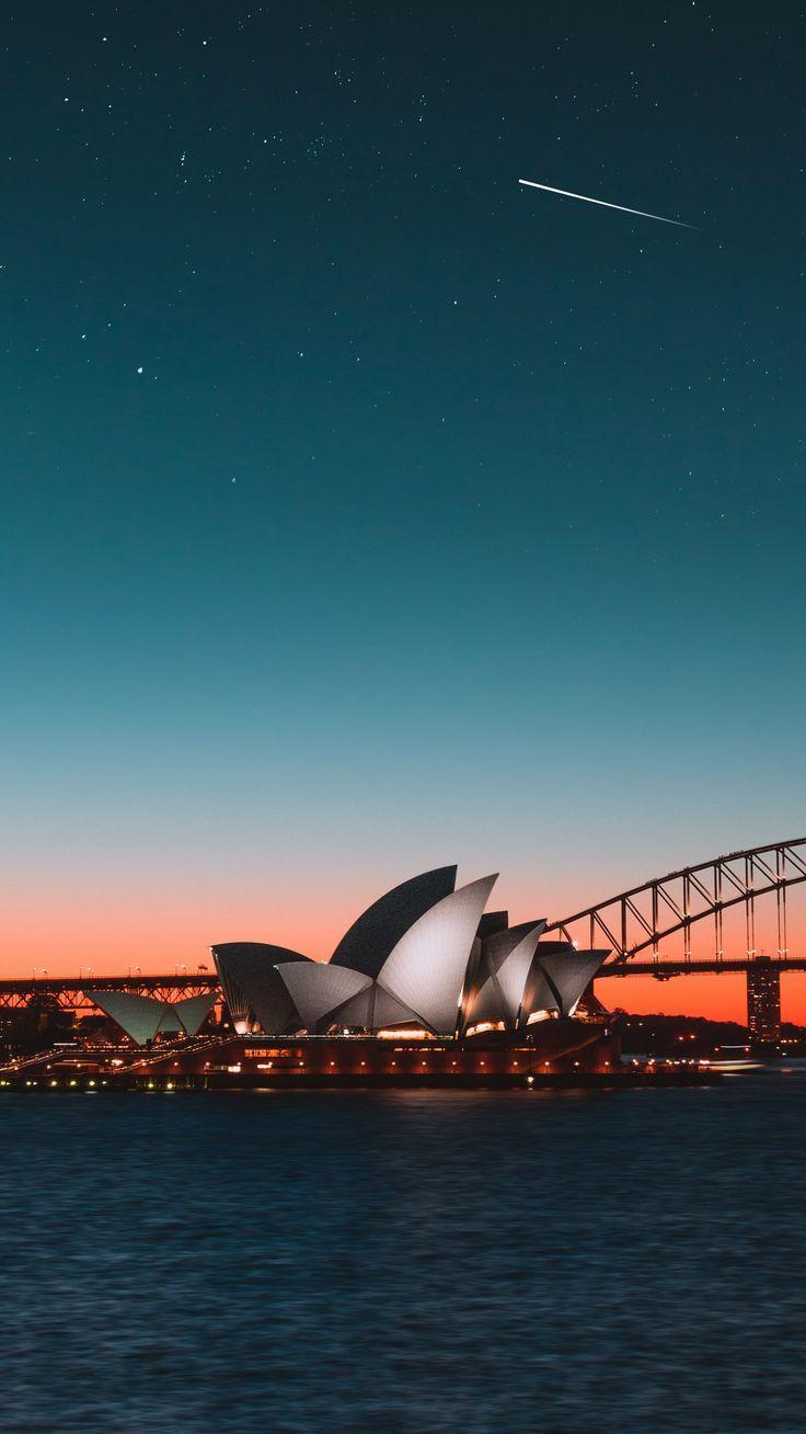 Places Sydneyoperahouse Nightcity Harbor Wallpapers Hd 4k Hintergrund Fur Australien Bilder Australien Reise Reisen