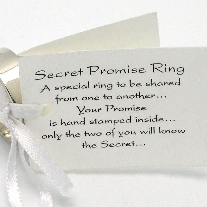 Secret Promise Ring  One Sterling Silver Ring With Block Letter