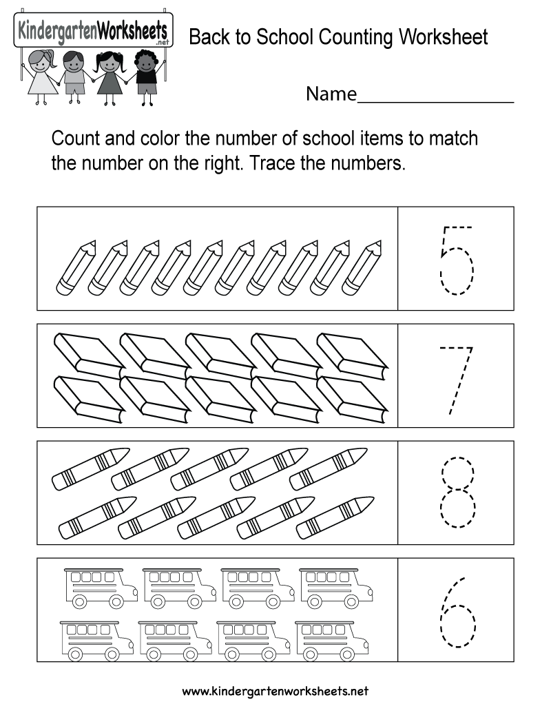 This is a great counting activity worksheet . Kids can trace the ...