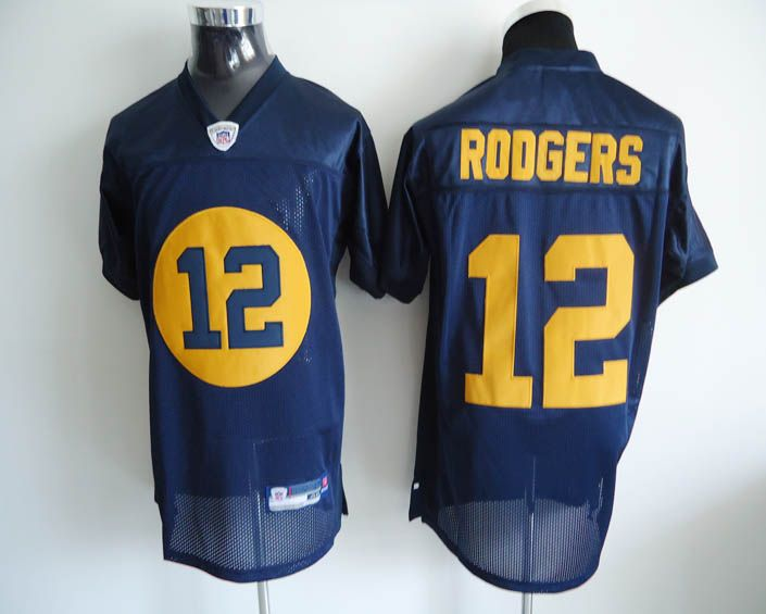 $25.00 Reebok NFL Jersey Green Bay Packers Aaron Rodgers #12 Blue