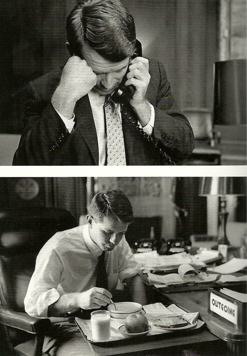 Bobby Kennedy at work