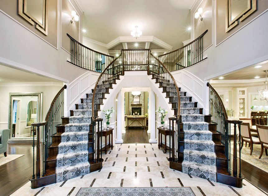 Foyer Luxury Nj : The hampton foyer with double spiral staircase at colts