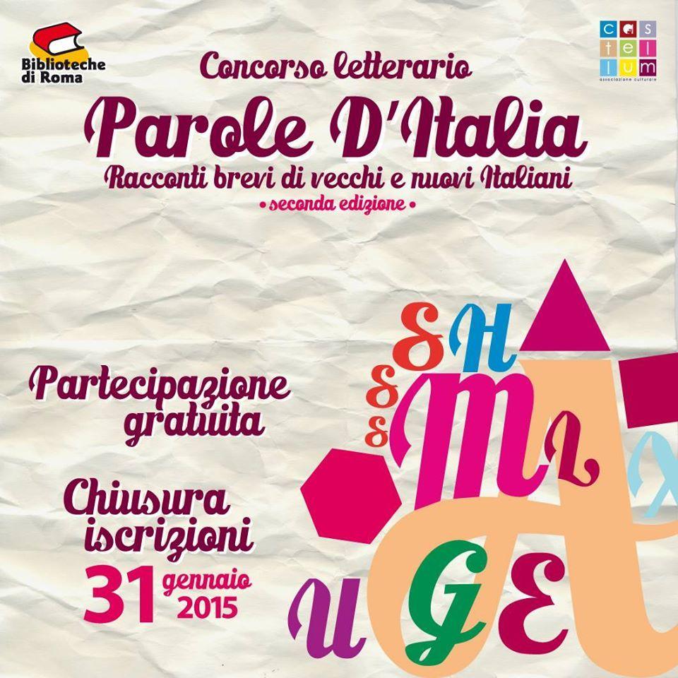 #paroleditalia #concorsoletterario